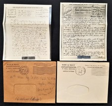 1940s antique V-MAIL lot WHITEHEAD chester pa WWII LETTERS iwo invasion ... - $47.50