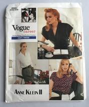 Anne Klein II Career Blouse Vogue Sewing Pattern 2069 UNCUT 3 Styles Siz... - $9.85