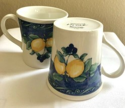 2 Wedgwood Home Amway England Lemon/Blueberries Mugs - $12.82