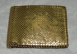 VTG WHITING & DAVIS Gold Metal Mesh Wallet Bill Fold - $39.60