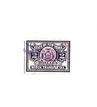 $2 Dollar State of New York, Stock Transfer Tax Revenue Stamp, D Overprint - $2.01