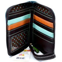 Chala Handbags Faux Leather Panda Turquoise Blue Zip Around Wristlet Wallet image 3