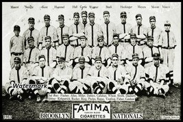 MLB 1913 Brooklyn Dodgers Team Picture Black & White 8 X 12 Photo Picture - $7.99