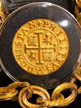 """PERU 1708 8 ESCUDOS """"1715 FLEET"""" 22kt PLATED GOLD DOUBLOON COB TREASURE ... - $395.00"""