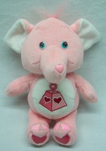 "Care Bear Cousins PINK LOTSA HEART ELEPHANT 8"" Plush Stuffed Animal 2004 - $14.85"