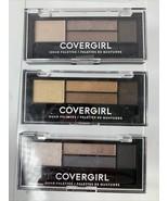 Lot of 3 Covergirl Eye Shadow Quad Palette 700 705 715 Smokey & Nudes  B... - $15.84
