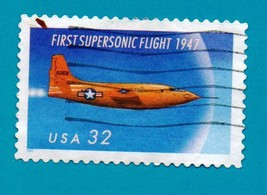 Scott #3173 Used 32c Postage Stamp - 5oth Anniversary of First Supersoni... - $1.99
