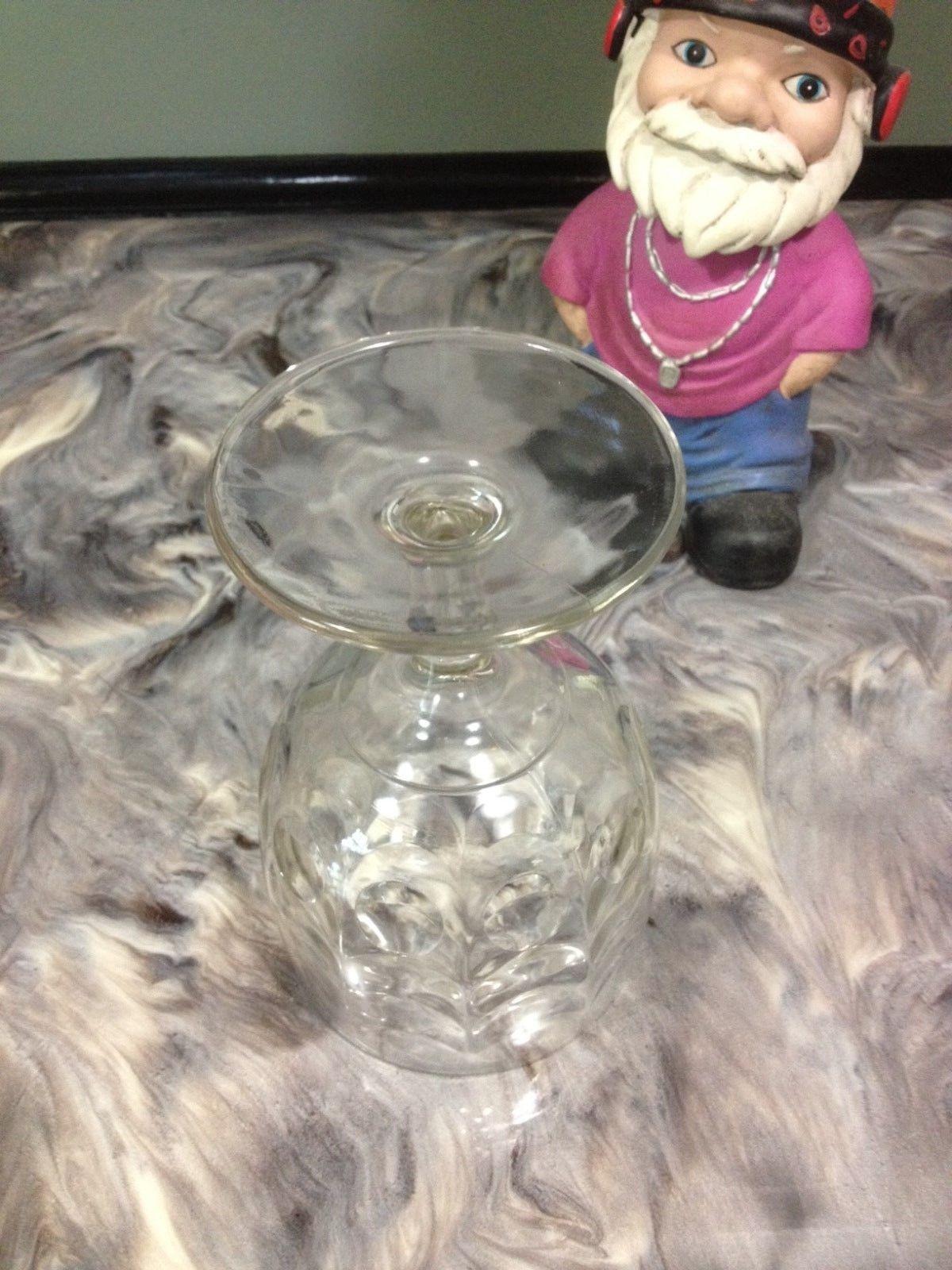 VINTAGE THUMBPRINT GLASS GOBLET, CURTAIN RUFFLE DESIGN