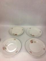 4 pcs plate Vintage China Orange Flowers Porcelainl Winterling  Bavaria Germany - $40.59
