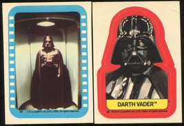 1983 Topps Star Wars: Return of the Jedi  Stickers # 34 and 52  Darth Vader - $35.00