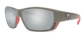 Costa Del Mar Atún Callejón Gris Plata Espejo 580G Rectangular Gafas de ... - $188.09
