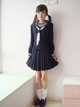 Japanese School Girl Daily Sailor Uniform Cosplay Costume Anime Dress ou... - $26.99