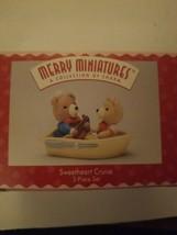 1996 Hallmark Merry Miniatures -Valentines - Sweetheart Cruise- 3 Piece Set - $8.80
