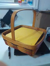 Longaberger Pie Basket with Wood Riser and Plastic Protector - 1994 - $20.19