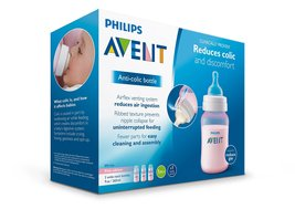Philips Avent Anti-colic Baby Bottles Pink, 9oz, 3 Piece - $16.99