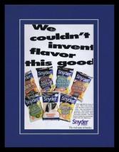 1995 Snyder's Potato Chips Framed 11x14 ORIGINAL Vintage Advertisement  - $32.36