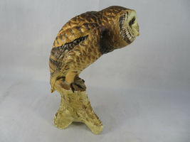 """Vintage BARN OWL Figurine Bird Ceramic Model Hand Painted JAPAN 6""""1/2 Tall image 4"""