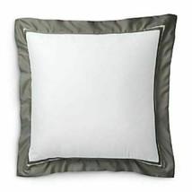 Ralph Lauren Bowery Metro Gray Euro Pillow Sham retail $145 - $61.37