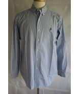 Ralph Lauren Men's Long Sleeve Classic Fit Button Down Dress Shirt Size L - $19.79