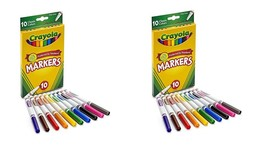 Crayola Fine Line Markers, 10 Count(pack of 2)Total 20 - $9.99
