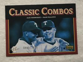 ALEX RODRIGUEZ Card /1999 2004 UPPER DECK CLASSIC COMBOS 171 RANGERS - $6.65