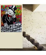 "Alec Monopoly Mr Brainwash Print on Canvas Urban artThe DJ Music 28x36"" - $33.48"