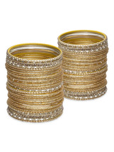 Lacquer Glass Wedding Bangles for women Golden ... - $42.00
