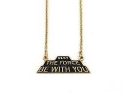 Star Wars May Die Force Sein Mit Du Schatten Serie Halskette - Gold Han Cholo