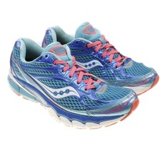 Women's Saucony Ride 7 Power Grid Lace Up Athletic Running Shoes Blue Sz 7.5 - $21.73