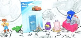 6 MIX LOT - TOY STORY FIND NEMO CARS DISNEY PIXAR CHARACTER MINI TOY FIG... - $8.79