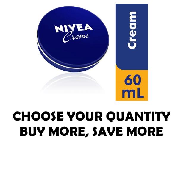 NIVEA CREME Skin Hand Moisturizing Cream in Metal Tin 2 Oz , 60 mL Moisturizer