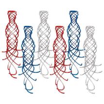 Shimmering Whirls (asstd red, white, blue) (6/Pkg) - $6.25