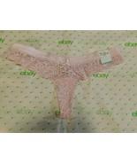 Rue 21 Women's Cheeky Thong Panties MEDIUM Lavender Lace Sexy Thongs New - $11.38