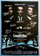 GOODFELLAS MOVIE Poster Signed by 10 cast with COA, AUTHENTIC, Excellent... - $101.00