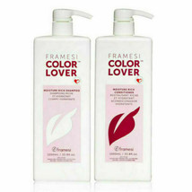Framesi Color Lover Moisture Rich Shampoo & Conditioner Liter Duo (33.8 ... - $59.39