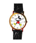 Mickey Arms Point Time, Seiko Pulsar, White Easy Read Dial, Gold Tone Wa... - $123.60