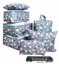 7 Set Travel Cubes,5 Colors Waterproof Mesh Durable Luggage Packing Orga... - $17.58