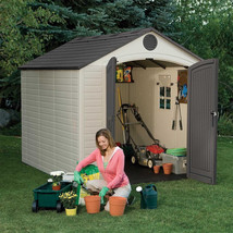Lifetime Outdoor Storage Shed Window Shelving Patio Yard Lawn Storage To... - $1,478.73