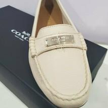 Coach Fredrica Pepple Grain Leather Milk Loafers Size 8M Brand New - $100.00