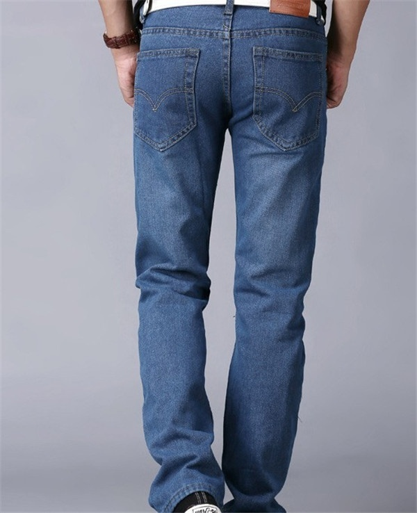 Men's fashion classic wash jeans image 6