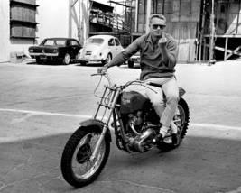 Steve Mcqueen Gun Motorbike SH Vintage 11X14 Matted BW Movie Memorabilia Photo - $13.99