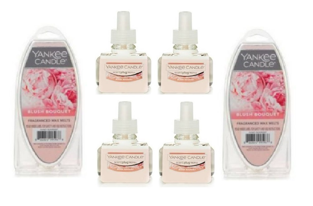 Primary image for Yankee Candle Blush Bouquet Wax Melts and ScentPlug Refill Bulbs 6 Piece Set