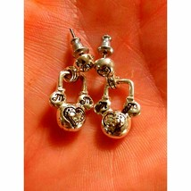 Vintage/Silver MICKEY MOUSE EARRINGS - $18.81