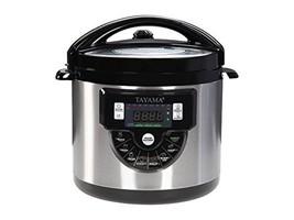 Tayama TMC-60XL 6 Quart 8 in 1 Multi Function Pressure Cooker, 6 Qt, Black - $51.75