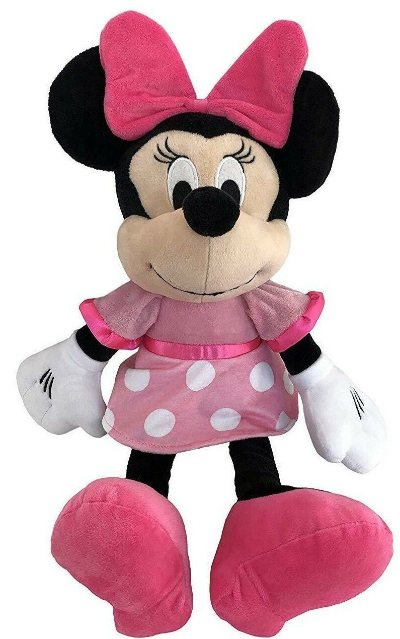 """Disney Minnie Mouse 18/"""" Plush Backpack Pink Dress Doll Figure Stuffed Toy Pink"""