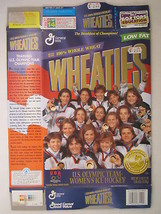 MT WHEATIES Cereal Box 1998 18oz USA OLYMPIC TEAM Women's Ice Hockey [G7... - $5.76