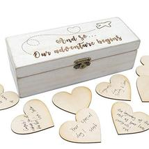 Personalized Wedding Guest Book with Hearts, Custom Rustic Wedding Guest... - $14.84