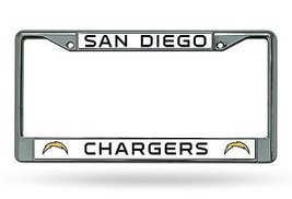 NFL San Diego Chargers Chrome License Plate Frame Thin Letters - $10.95
