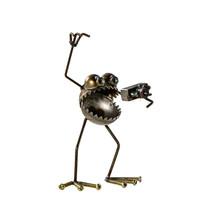 Sugarpost Scrap Metal Art Gnome Be Gone Mini Photographer With Camera It... - €50,60 EUR