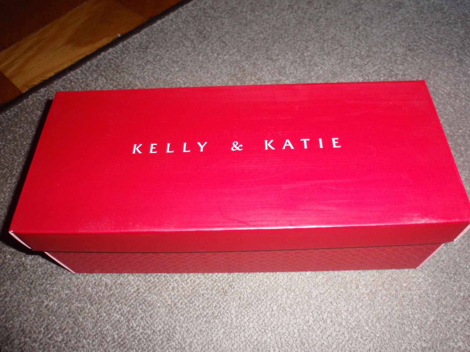 Primary image for KELLY & KATIE Shoe Gift Box - RED - EMPTY BOX - size 12 1/2 x 5 1/8 x 4